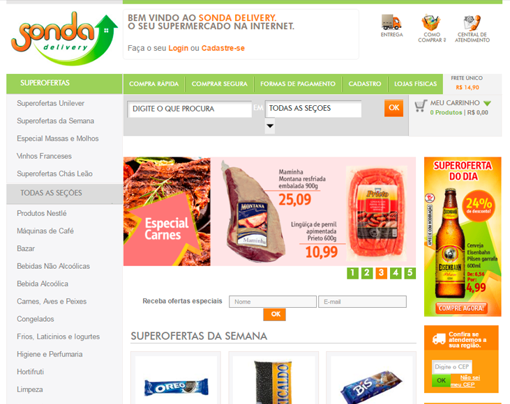 Sonda Delivery (Loja Virtual) - E-commerce para Supermercado B2C e B2B.