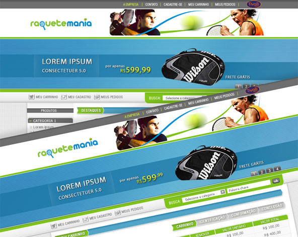 Raquete Mania - E-Commerce